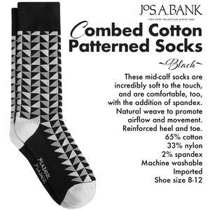 Combed Cotton Black & Grey Patterned Socks